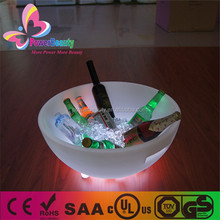 2015 china made new products plastic led lighting table wine bucket holder