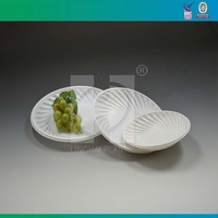 White Disposable Plastic Food Tray