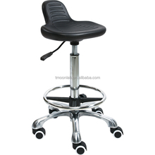 high quality pu seat height adjustable stainless steel lab stool chair with foot rest