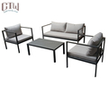 Simple Style Metal Outdoor Sofa Set Garden Furniture