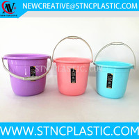 bathroom portable plastic water bucket with lid