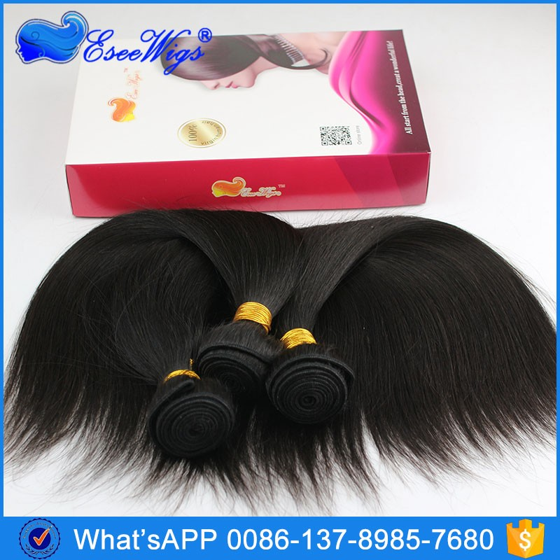 Eseewigs Top Quality 100% Virgin Human Hair 13X6 Lace Frontal Clusure with hair bundles Silk Straightl 8-24Inch In Stock
