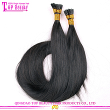 Wholesale i tip hair full cuticle hight quality keratin u tip hair/flat tip/i tip hair extensions wholesale