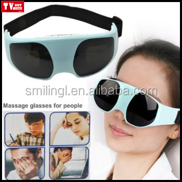 electric eye anti wrinkle massage glasses eye relaxing massager, both charged by batteries and USB