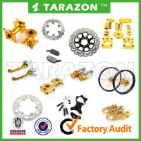 TARAZON brand hot sale motorcycle brake rotor sprocket cover foot pegs brake lever SUZUKI parts offroad parts