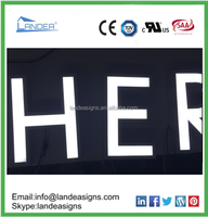 Various Fonts Letters Frontlit LED Letter or Signs China leading factory