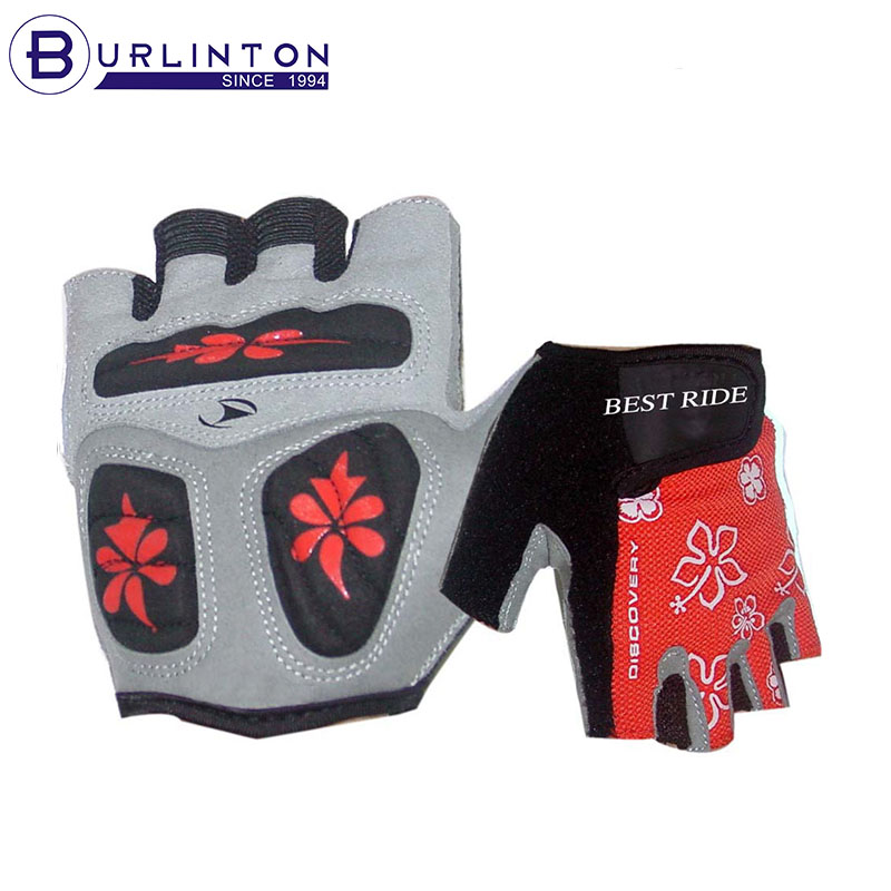 sport glove for road and mountian cycling gloves 3 ways palm silicon printed pading