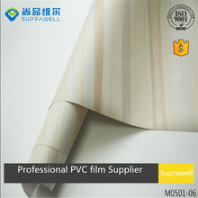 ISO9001 factory laminated decorative PVC film for furniture