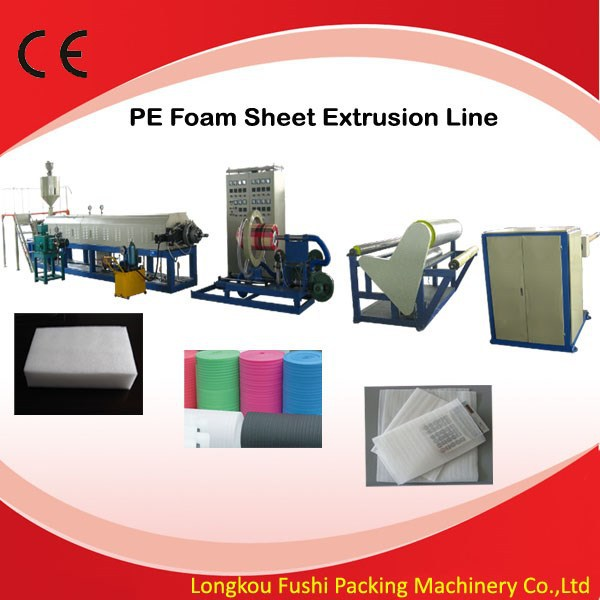High quality high output PE/EPE foam sheet plastic extrusion making machine with auxiliary parts