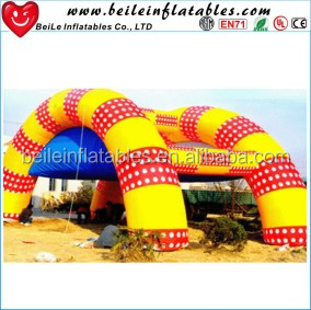 Wholesale rainbown colorful event activity decoration big inflatable tent for sale