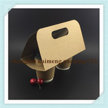 Disposable coffee cup carriers 2 /4 cavities paper beverage carrier