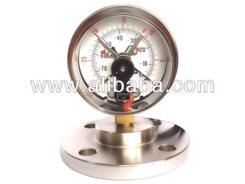 Electrical Contact Pressure Gauges with Flange Type Diaphragm Seal