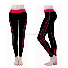 (Factory/low MOQ) New Women Capris, YOGA Running Elastic Sports Pants, Fitness Black Trouser