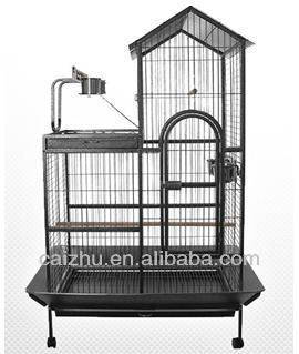 Double Roof Playtop Parrot Bird Cage for Sale