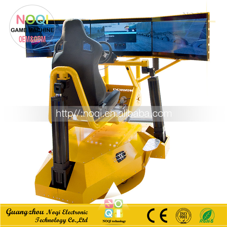 NQR-C22 360' Attractive Full Motion Racing Indoor 4d driving simulator with car video games