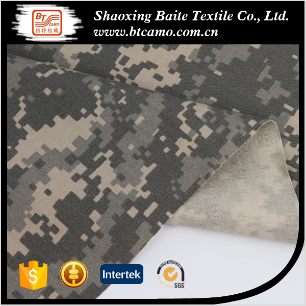polyester cotton micro twill degital camouflage military fabric