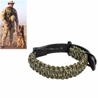 KongBo 2017 High quality Survival 550 Nylon Paracord Dog Collar