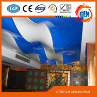 Foxygen Brand interior wall and ceiling decoration materials PVC stretch ceiling