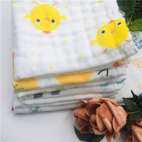 China supplier double gauze cotton fabric for baby bath towel