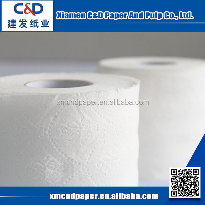 Hot Selling 100% Virgin Wood Pulp Toilet Tissue Paper Jumbo Rolls