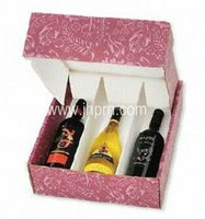 Modern Paper Wine Bottle Package Boxes for 3 Bottle
