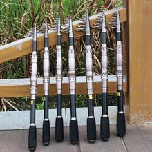 Top Carbon Telescopic Fishing Rod Travel Portable Pole for Fishing Tackle Gear