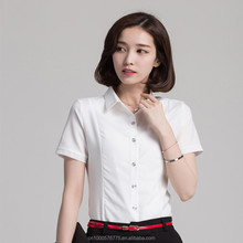 high quality womens clothing short sleeve women blouse chiffon ladies office shirts