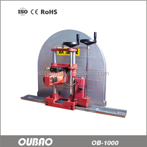 OB-1000 professional electric concrete wall saw cutting machine with CE certificate