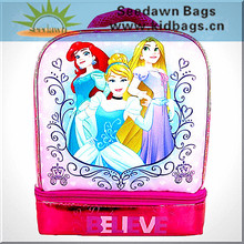 Primary Elementary School Students Lunch Cooler Bag with Two Zipper Sections Handle Holding for Child Pupils