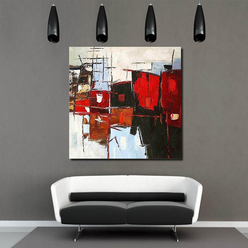 Home Hotel And Office Wall Decoration Abstract Modern Canvas Oil Painting