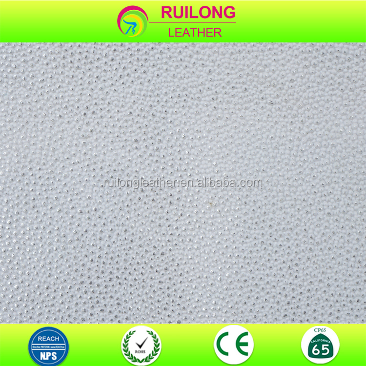 Metallic dots printed PVC coated synthetic leather fabric Guangzhou leather