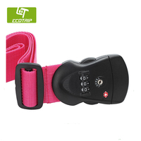 New Design Hot Sale Eco-friendly Polyester Luggage Belt with lock