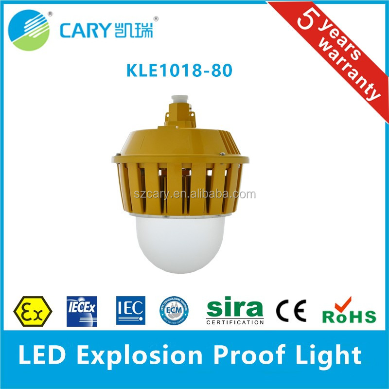 high flameproof IP65 industrial 80w led explosion proof floodlight