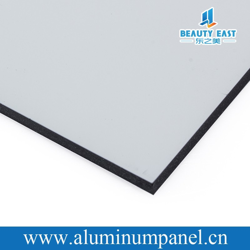b1 fireproof 5mm PVDF white aluminum plastic mirror composite panel