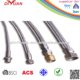 Stainless steel braided hose inlet water inlet pipe tap fittings, water sink pipe ,ISO9001 APPROVED