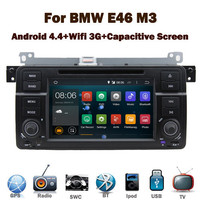 Pure Android 4.4 Car DVD GPS for BMW E46 M3 Capacitive Touch screen GPS Bluetooth Radio RDS USB IPOD Steering wheel control