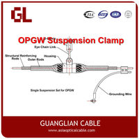 Power Accessories Aerial 12/24/48 Core OPGW Double Suspension Clamp