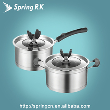 Butterfly 4 Pieces Stainless Steel Sauce Soup Pot Cookware Pot