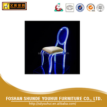 Unique acrylic clear light LED seating / led party chair / wedding chair