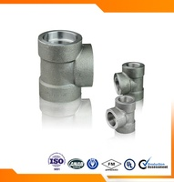 High pressure forged SW tee carbon steel pipe fitting