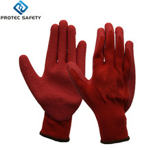 Cheap price oem service professional red work latex coated safety gloves