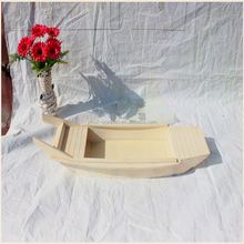 Handmade carving miniature wood boat craft