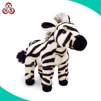 EU quality customized animal plush toys zebra stuffed toy factory supply