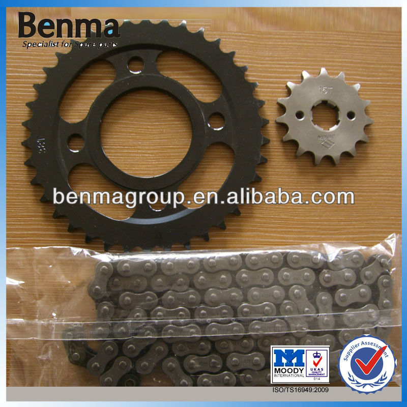 chinese manufactory for motorcycle sprocket for wave 125,motorcyle front and rear sprocket with high reputation