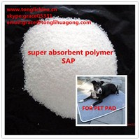 China supply high quality/dissolve faster super absorbent polymer SAP for pet diaper