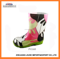 Cheap Printed PVC Rain Boot/Gumboots for Kids