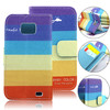 small moq book style leather cover case for samsung galaxy s2 i9100