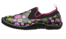 2014 High quality rubber printed neoprene ankle women garden shoes