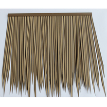 Newest PVC building and decoration material best price pe bali island reed plastic roof tile for garden decoration