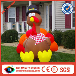 Super popular yard decorative thanksgiving giant inflatable turkey